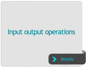 Input output operations